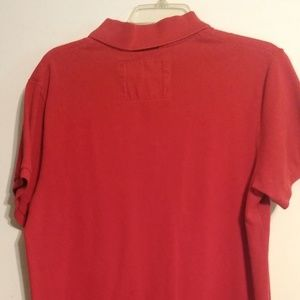 Men's Red American Eagle Polo Shirt